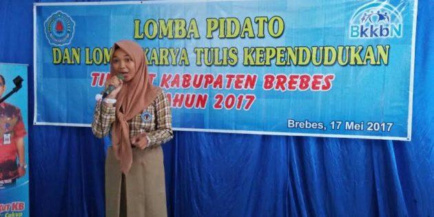 Arifa Dwi S, dan Erwin Hidayatullah Sabet Juara I Pidato dan Karya Tulis KB