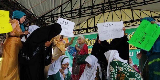 Drama Kematian Doktrin Khilafah  Warnai Harlah Fatayat ke 67 di Brebes