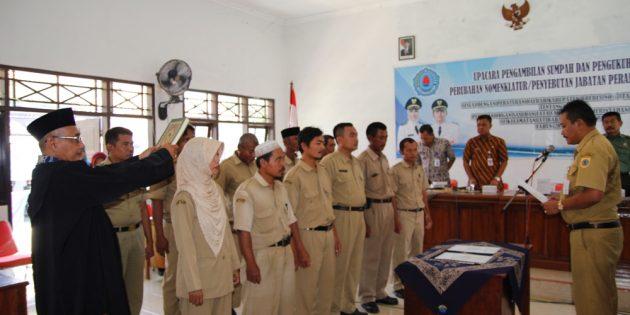 Pelantikan 202 Perangat Desa di Jatibarang : Diwanti-wanti tidak Lakukan Pungli