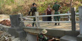 Jembatan Baru TMMD Cikuya Hubungkan 2 Desa Terisolir