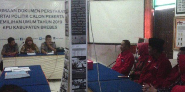 PDIP Brebes, Partai Kedua yang Serahkan Berkas ke KPU