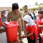 Kecamatan Larangan jadi Contoh Hari Cuci Tangan Sedunia Kabupaten Brebes