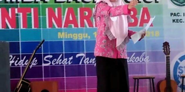 Widya dari Tonjong Sabet Juara Baca Puisi, Pelajar NU Lawan Narkoba