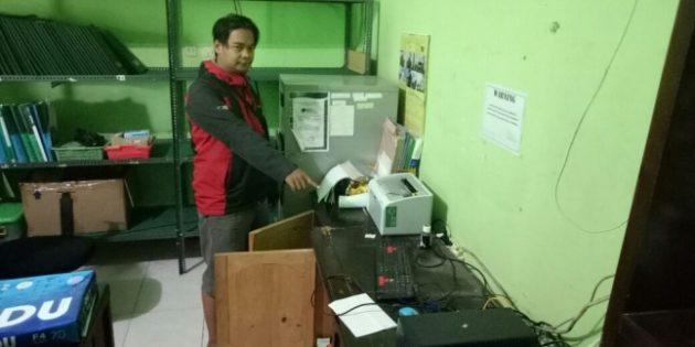 SMK Amilia Paguyangan Dibobol Maling, Polisi Selidiki Pelakunya