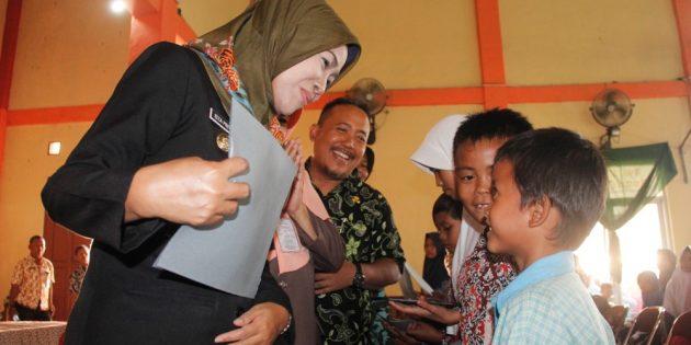 Per Kecamatan, 300 Anak Yatim di Brebes dapat Santunan 250 Ribu Rupiah