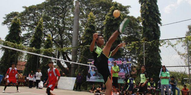 Tim Takraw MTs Al Hikmah Cipalem Juarai SMA Bulakamba Open