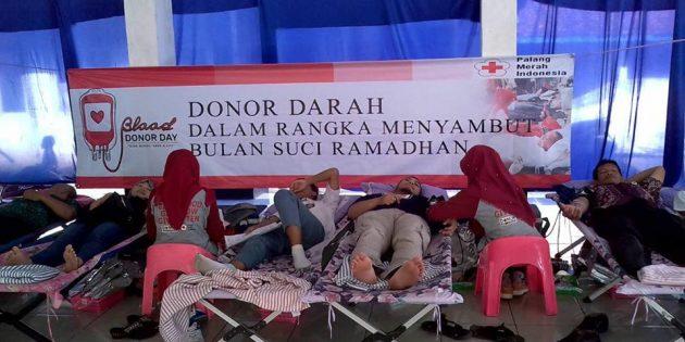 Di Bumiayu, PMI  Adakan Kegiatan Donor Darah Berhadiah Puluhan Doorprize