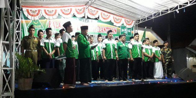 Pelantikan GP Ansor Songgom, KH Harun S.Ag :  GP Ansor Jangan Andalkan Proposal Penggalangan Dana