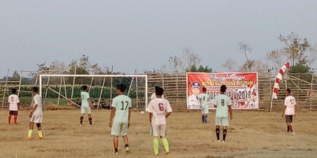 Desa Bulusari Gelar Turnamen Sepak Bola HUT- RI Berhadiah Total 5 Juta Rupiah