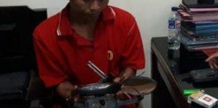 Polisi  Bekuk Pencuri Motor yang Terparkir di Masjid Agung Brebes