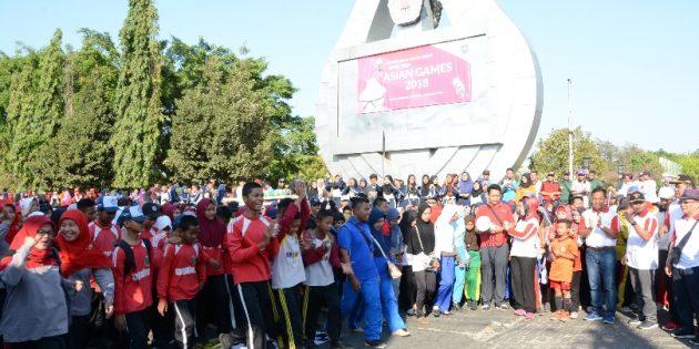 Ribuan Peserta Meriahkan Peringatan Haornas Ke 35 di Brebes