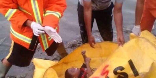 Anak  Usia 3 Tahun Ditemukan Tewas di  Aliran Sungai Pemali