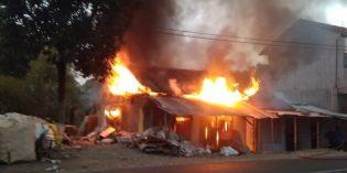 Warung Nasi di Pasar Wagean Bumiayu Terbakar, Kerugian Ditaksir Puluhan Juta