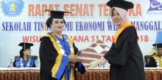 STIE Widya Manggalia Mewisuda 48 Mahasiswa,Tatik Agustin Luthfiani Raih IPK Teringgi