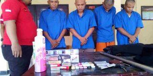 2  Pencuri dan 2  Rampok Senilai Rp 200 Juta di  Minimarket Dibekuk Polisi