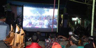 Meriahkan Hari Jadi  Brebes,  Desa Karangsari Gelar Nobar Film ' Barikan'