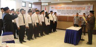 Jelang Pemilu Presiden dan Legislatif,  KPU Brebes Lantik 34 Anggota PPK