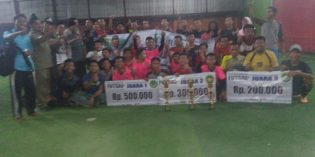 Gali Potensi Bakat Kader NU, PC IPNU Ketanggungan Gelar Futsal