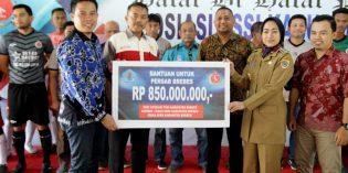 Dukung Persab ke Kancah Nasional , Bupati Kucurkan Bantuan 850 Juta Rupiah