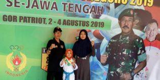 Alya Khoirunnisa Sabet Juara 1 Karate Piala Pangdam IV Diponegoro