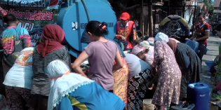 Tabrac Bantu 3 Tangki Air di Desa Galuh Timur