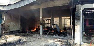 Ruko Di Jatibarang  Ludes Terbakar, Pemilik Rugi Ratusan Juta Rupiah
