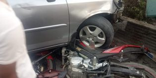 Kaki Alami Kram, Pengemudi Sedan Tabrak Motor dan Pejalan Kaki di Jatibarang