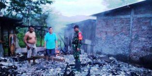 Ditinggal ke Jawa Barat, Rumah Warga Tonjong  Ludes Terbakar Rata dengan Tanah