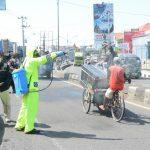 Perbatasan Jawa Tengah – Jawa Barat Kini Giliran Disemprot Disinfektan