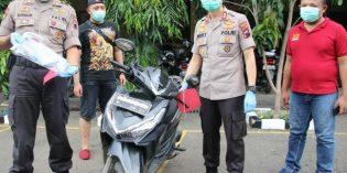 Residivis Pencuri Motor Diamankan Polisi