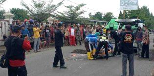 Tragis…! Suami Istri asal Tegal Tewas Terlindas di Pantura Brebes