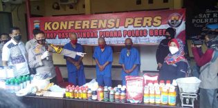 Jajaran Polres Brebes Ciduk 3 Pelaku Pembuat Pestisida Palsu