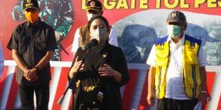 Tinjau Gate Tol Pejagan, Puan : Larangan Mudik jangan Ganggu Arus Logistik Kebutuhan Hari Raya