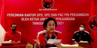 Megawati Resmikan Kantor DPC PDIP Brebes Lewat Virtual